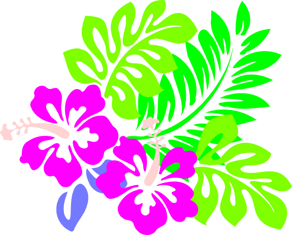 Hawaiian Flowers Clip Art