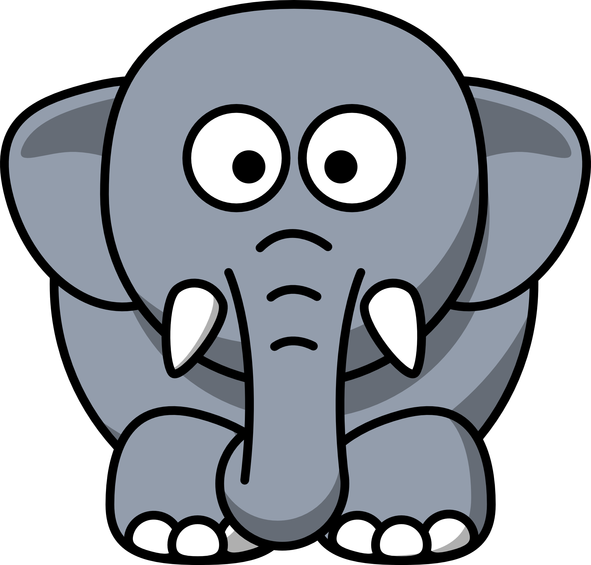 white elephant gift clipart free - photo #17