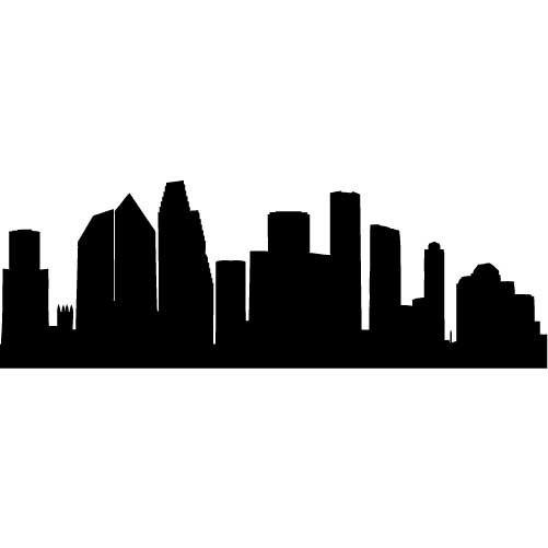 Houston Clip Art : Houston skyline outline clipart best