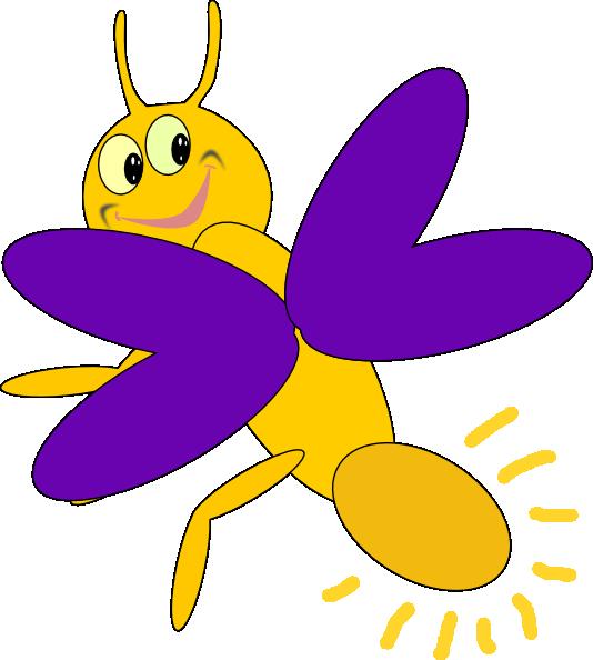 Purple Firefly 5 clip art - vector clip art online ...