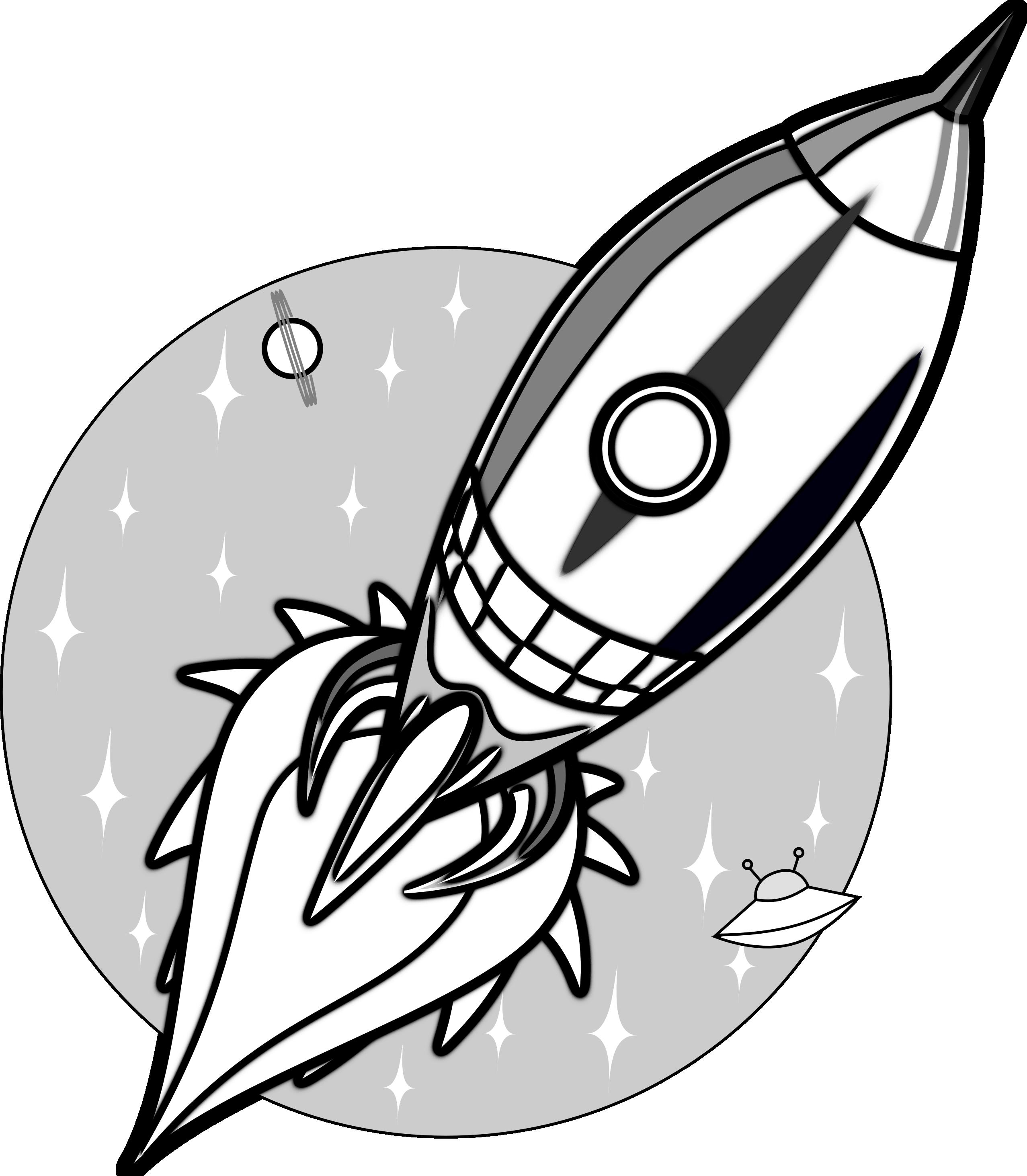 Line Drawing Rocket : Cartoon rocket clipart best