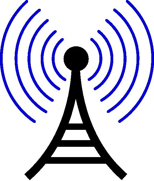 Radio/wireless Tower clip art - vector clip art online, royalty ...