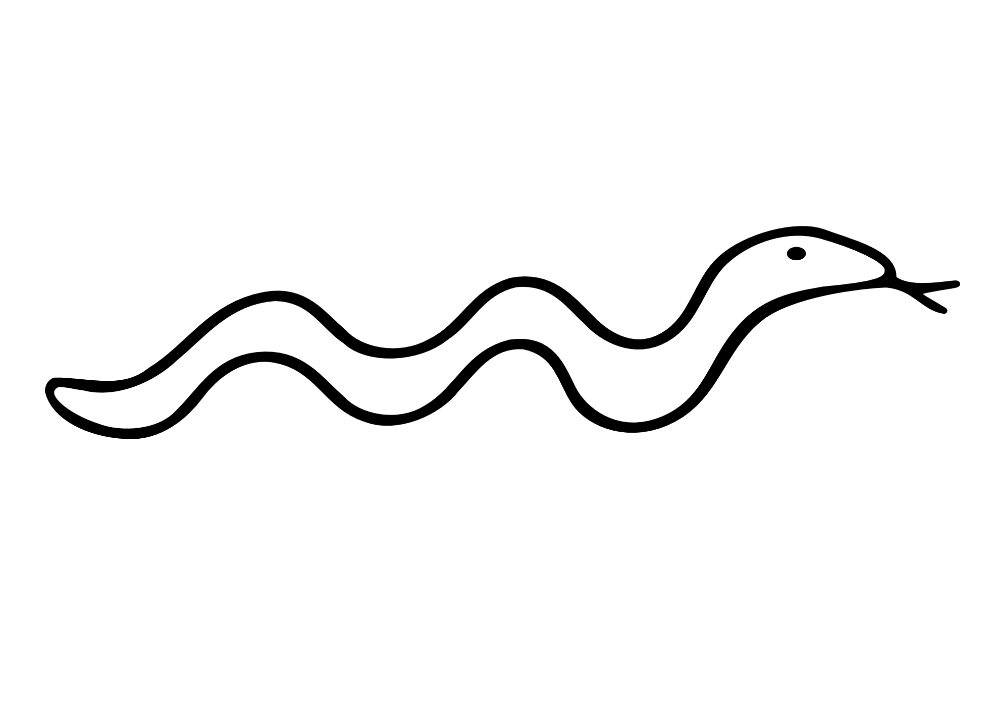 Line Drawing Snake : Animal line drawing clipart best