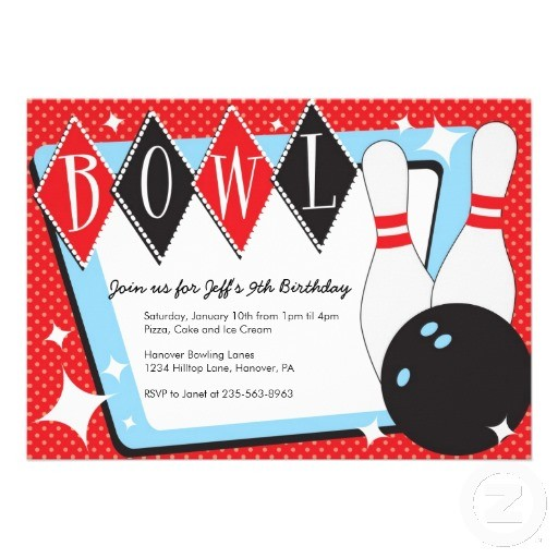 Birthday Invitations Printable Bowling