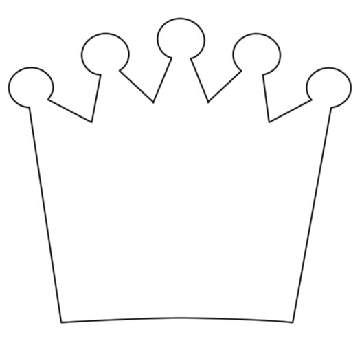 Template Princess Crown Clipart Best Princess Outline Printable