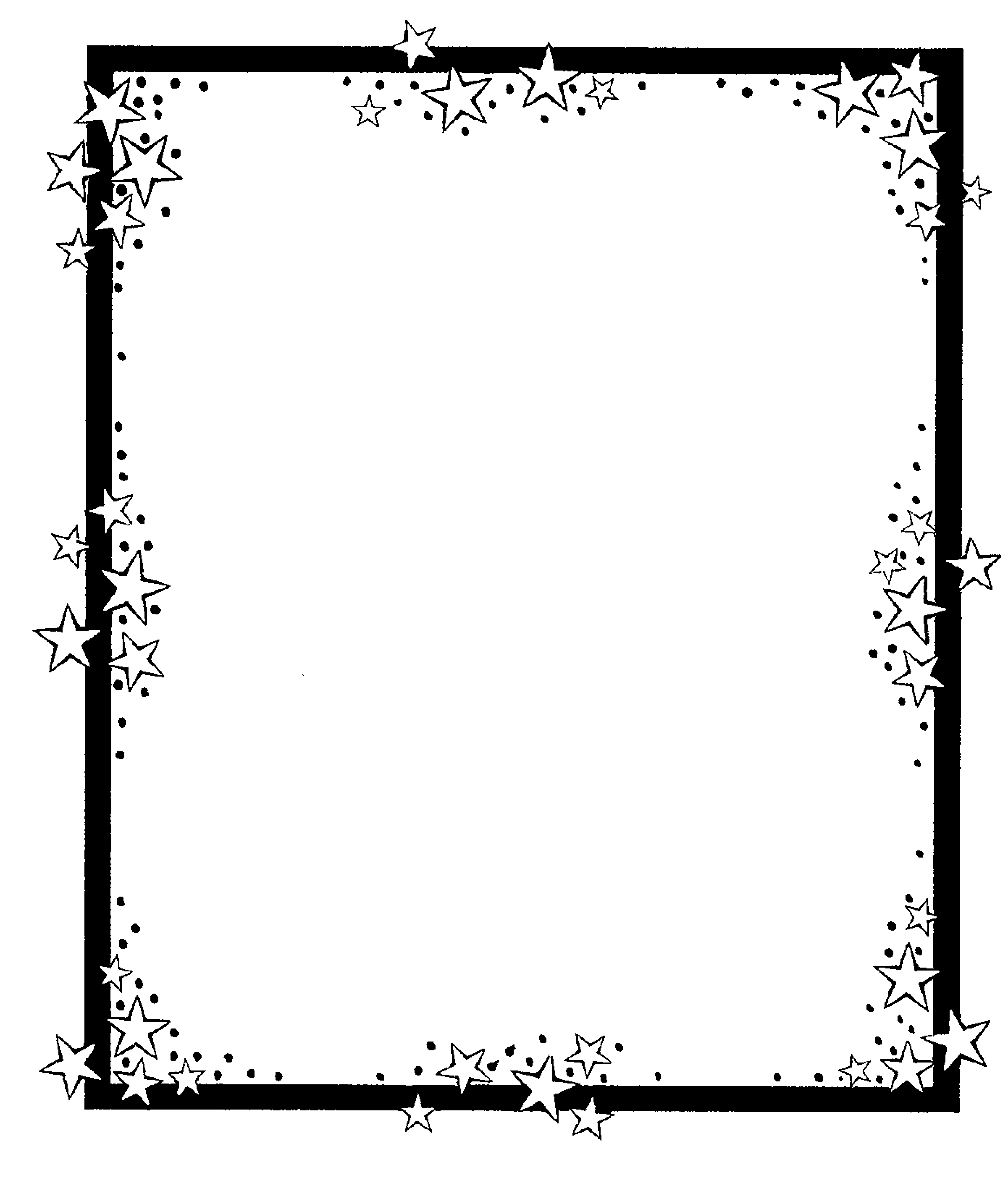 Stars Clipart Black And White ClipArt Best