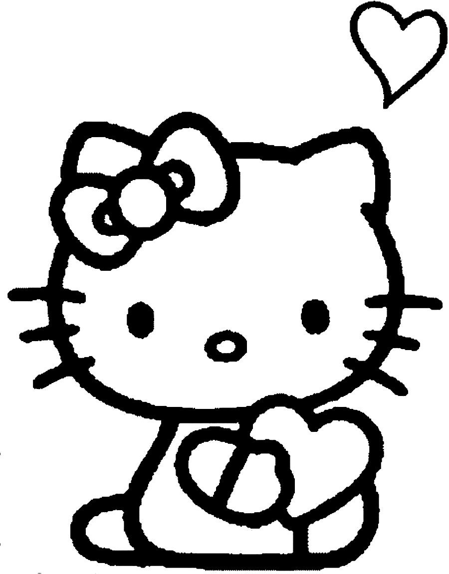 Free Hello Kitty Cupcake Coloring Pages