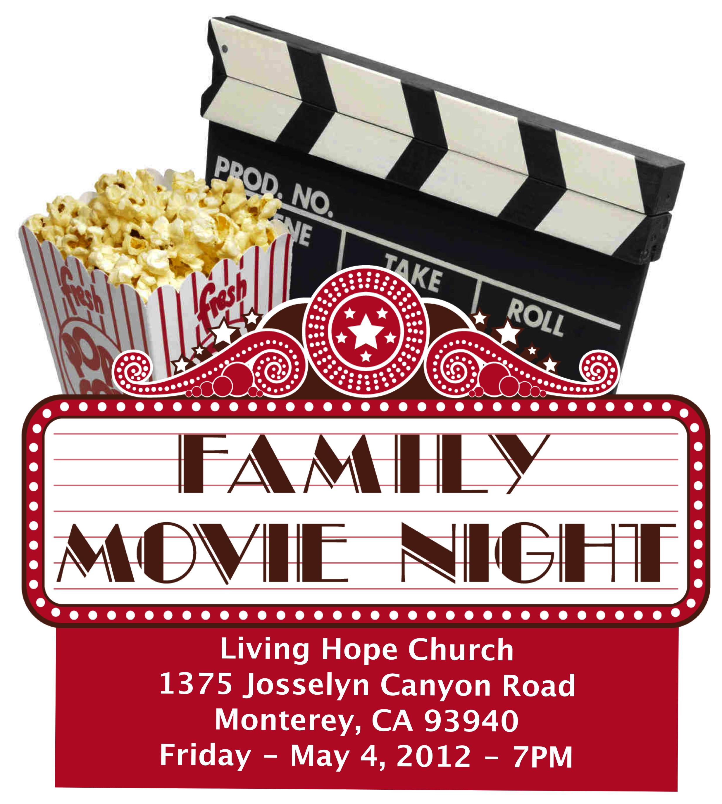 movie night clipart best