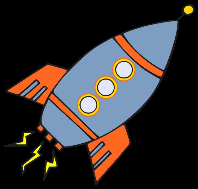 free cartoon rocket ship clip art - photo #25