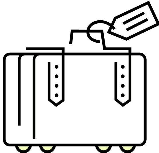 Suitcase Clipart Black And White - ClipArt Best