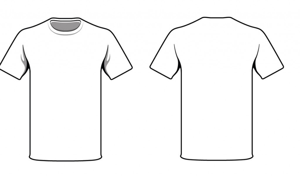 T Shirt Plain Back And Front Clipart Best