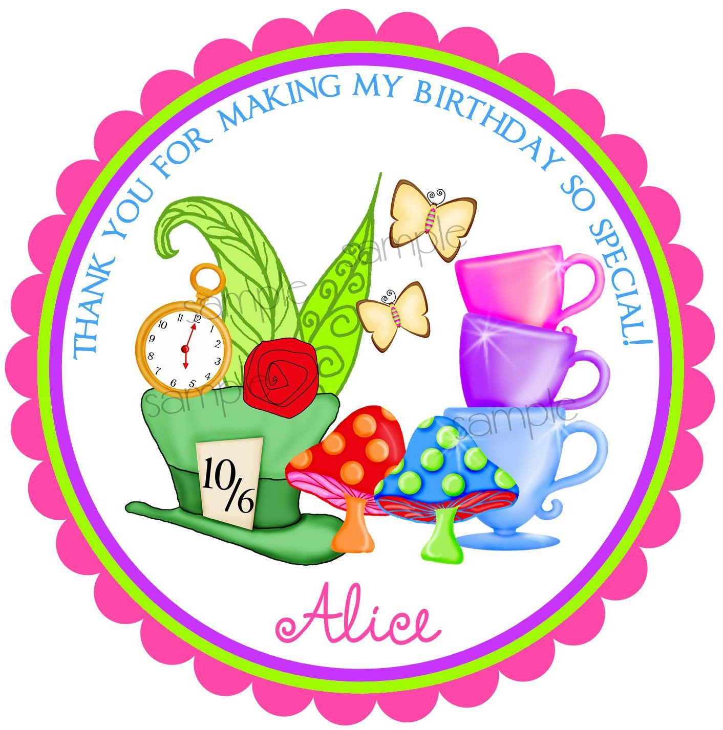 Alice In Wonderland Tea Party Clipart
