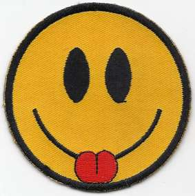 Smiley Face With Tongue Patch 2.5""