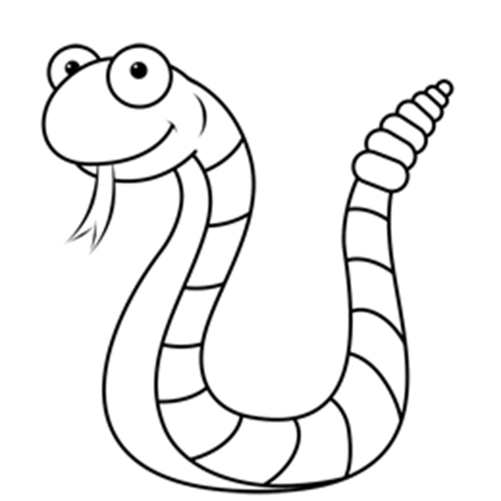 Line Drawing Cartoon : Snake line drawing clipart best