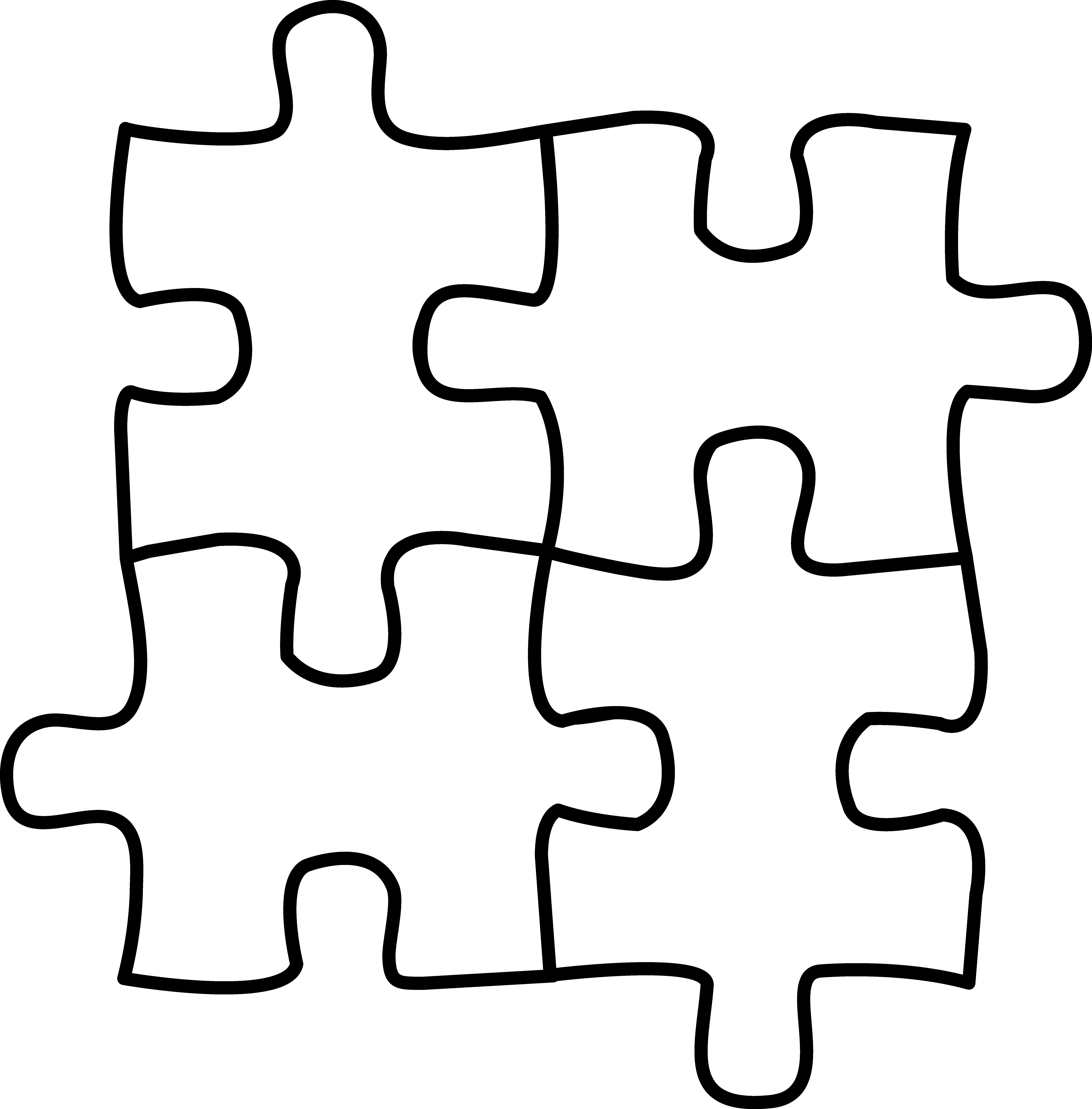 Autism Puzzle Coloring Page
