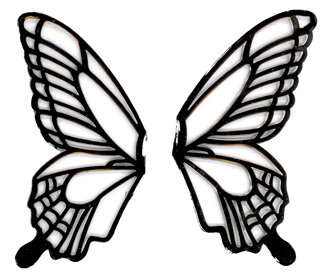 Butterfly wings black and white clipart