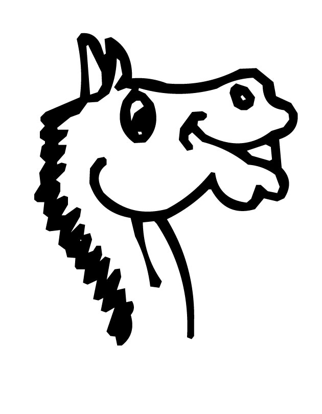 Printable Horse-Head coloring page from FreshColoring ...