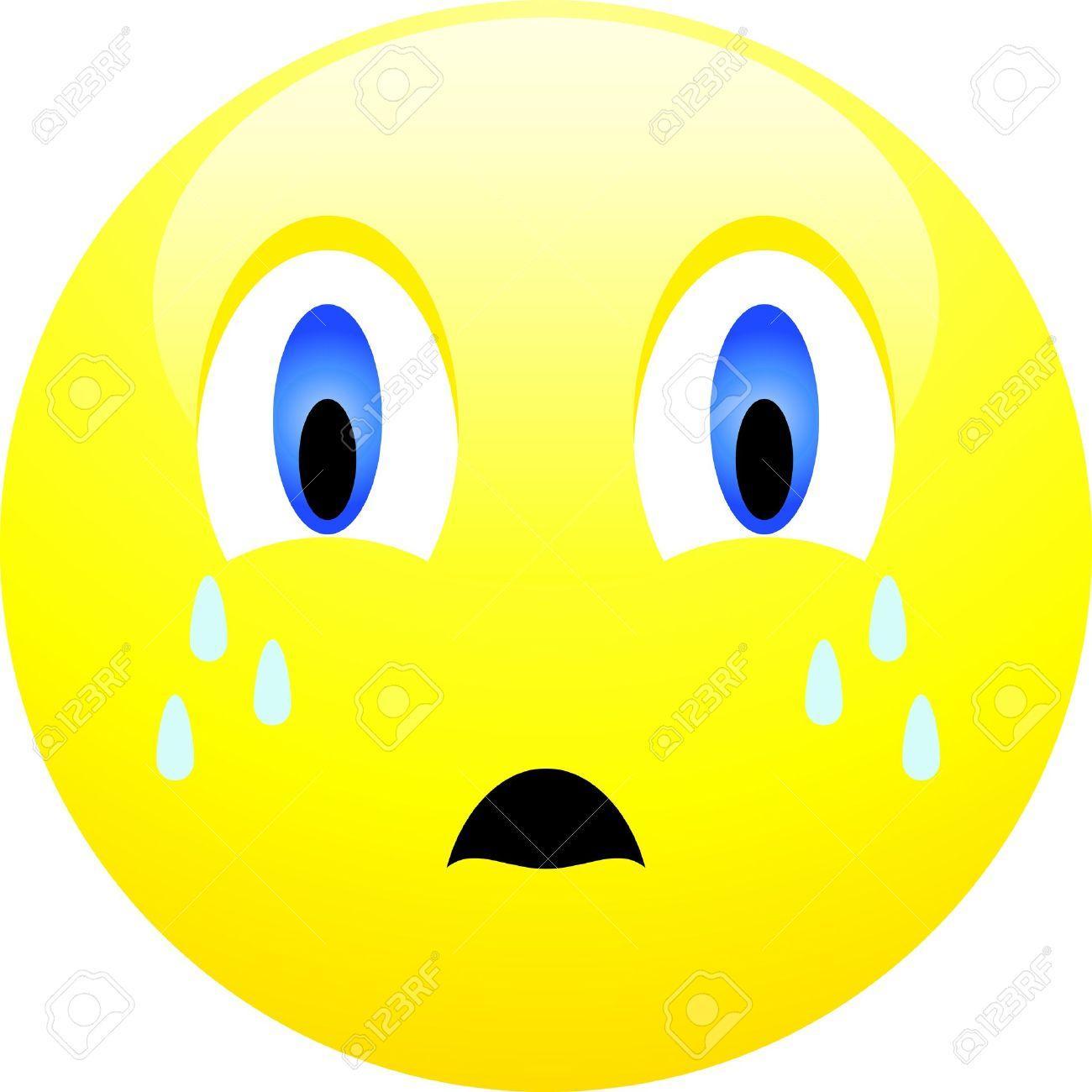 Sad Smiley Face With Tear