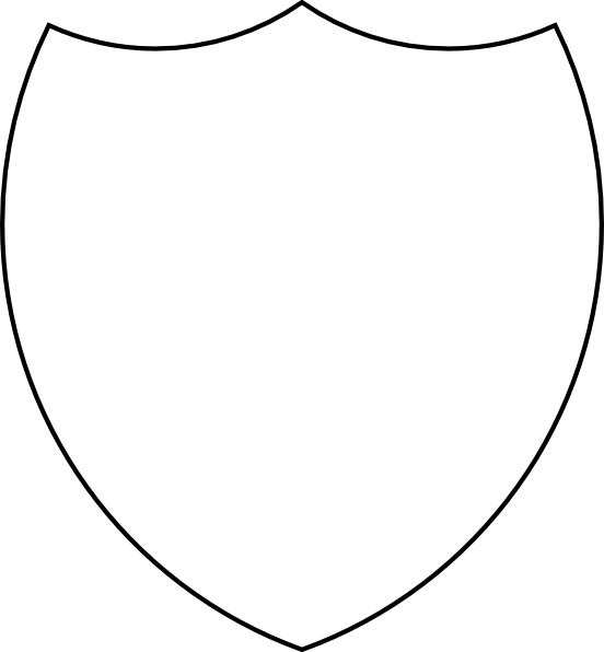 Outline Of A Shield Of A Coat Of Arms - ClipArt Best