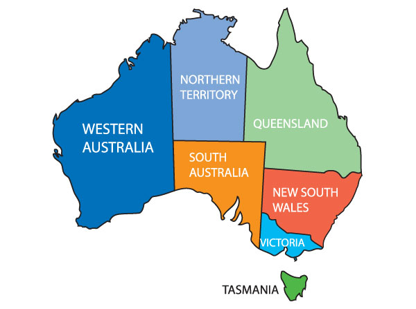 How To Draw Australia Map ClipArt