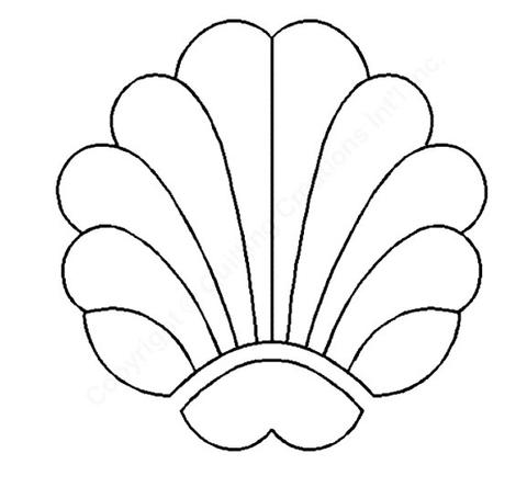 Seashell Stencils Clipart Best