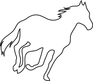 Horse Outline Picture on race horse cartoon