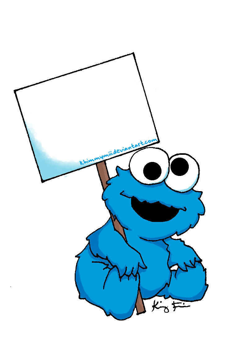 baby cookie monster clip art - Cookie Monster Face Coloring Pages