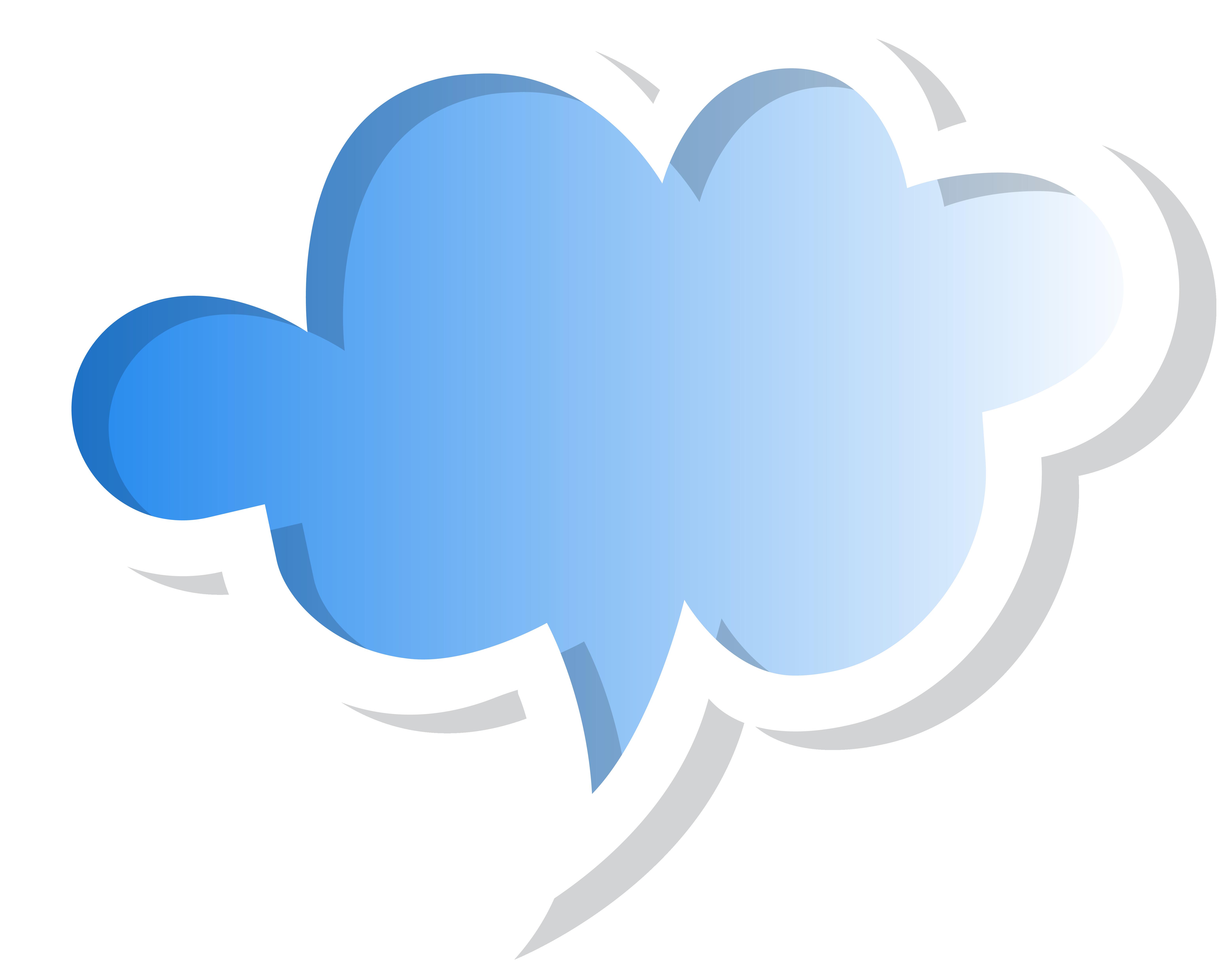 Speech Bubble Cloud Blue Png Clip Art Image Clipart Best