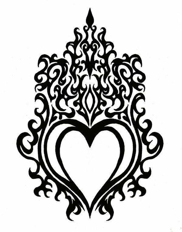 drawings of hearts with flames clipart best. Black Bedroom Furniture Sets. Home Design Ideas