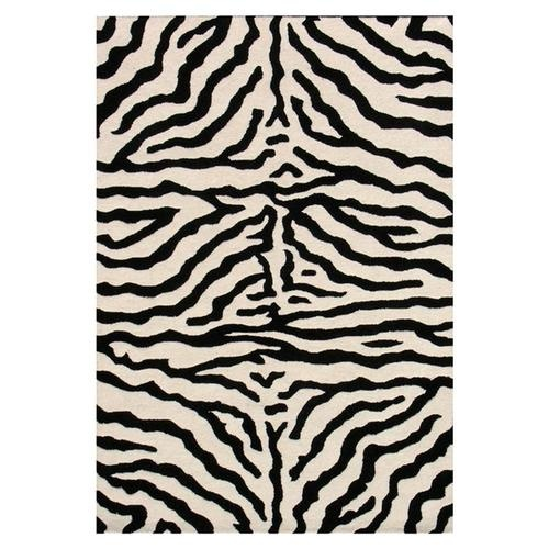 Pink Black White Zebra Carpet