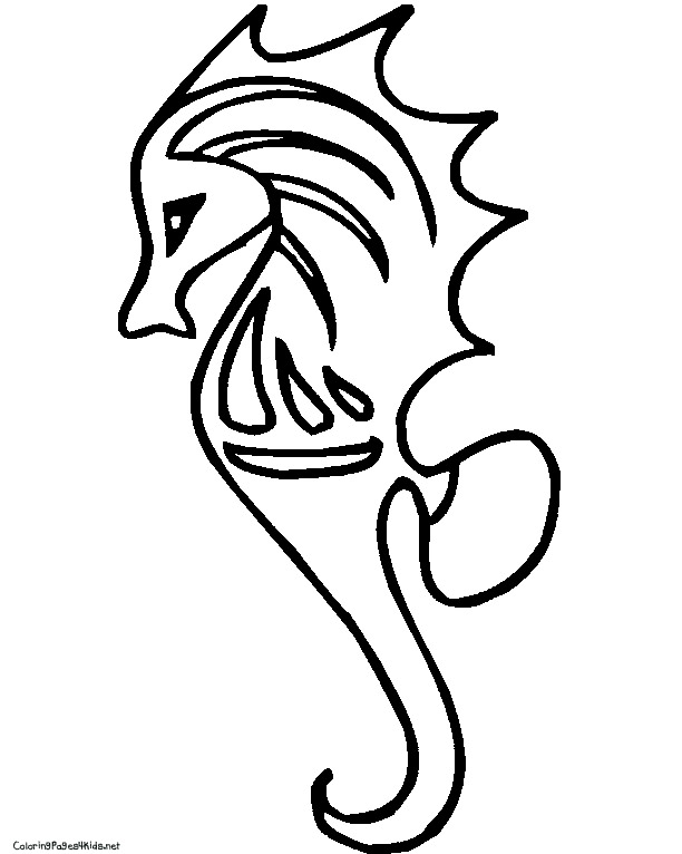 seahorse coloring page best pages 2017 - Realistic Seahorse Coloring Pages