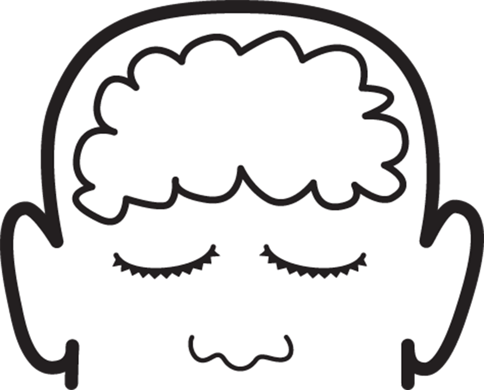 outline of brain clipart best clipartbest