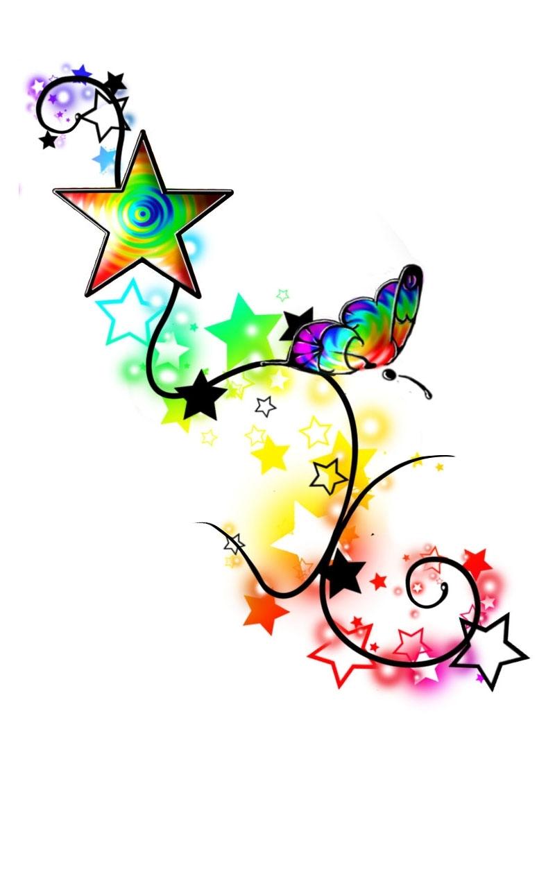 Rainbow Star Tattoos 50