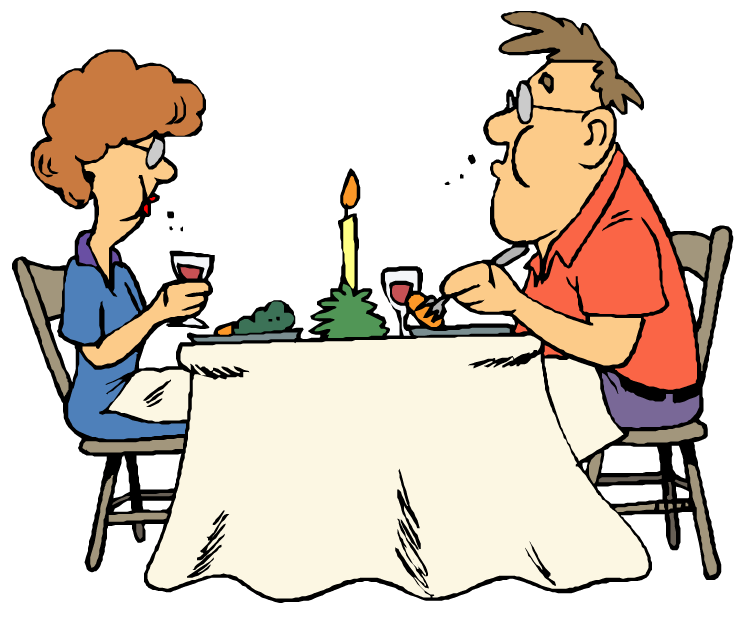 Fancy dinner clip art