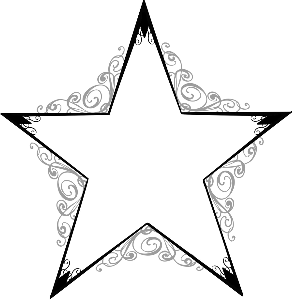 Line Drawing Star : Stars line drawing clipart best
