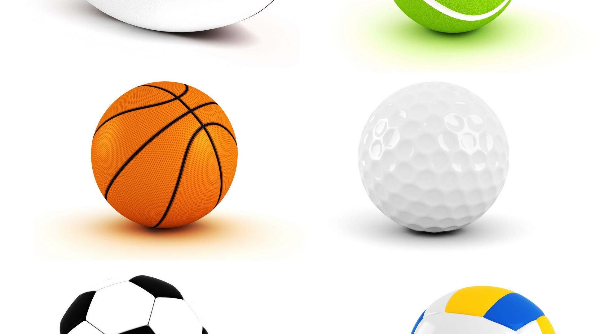 sports balls collage