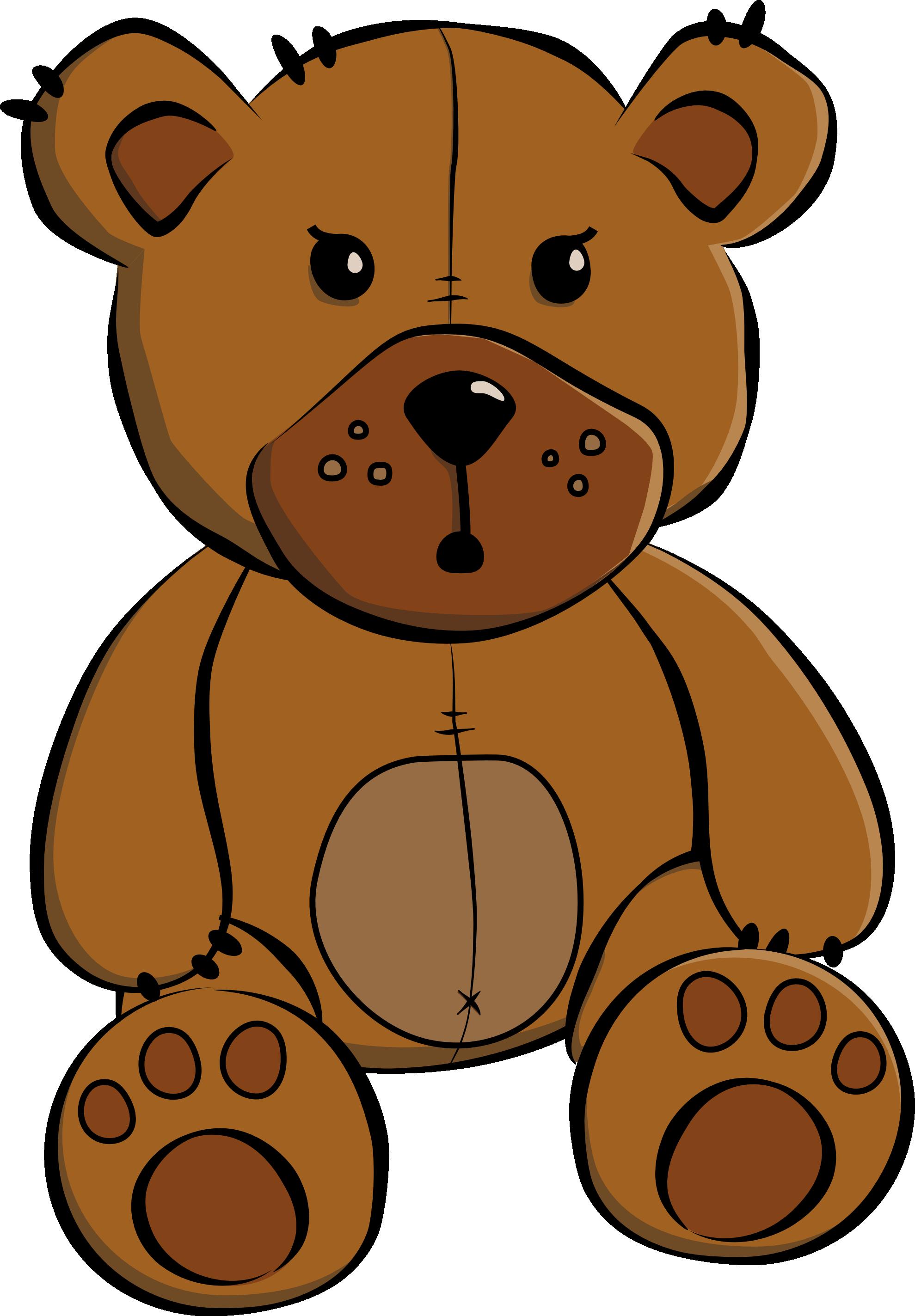 Simple Teddy Bear Drawing - ClipArt Best