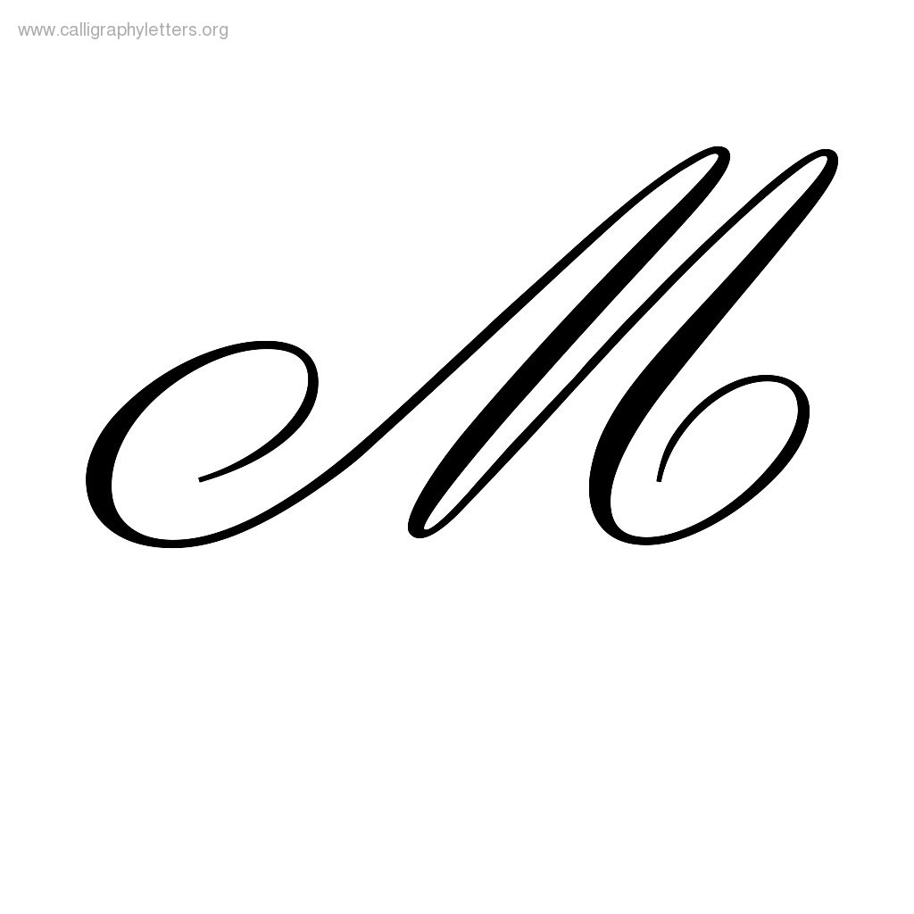 Worksheet Cursive Letter M fancy m letter outline clipart best cursive noconformity free worksheet