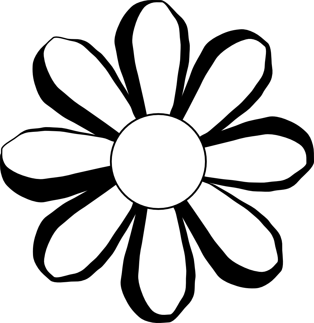 Flower Images Black And White - ClipArt Best  Black And White Flowers Clipart