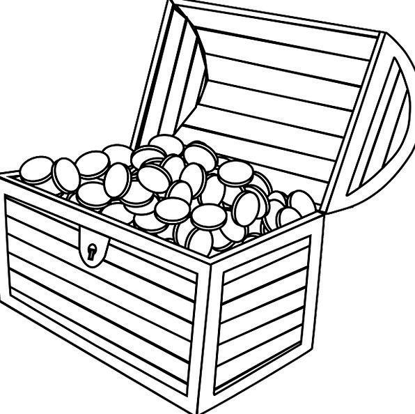 treasure chest outline clipart best
