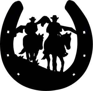 horseshoe silhouette clip art - photo #37