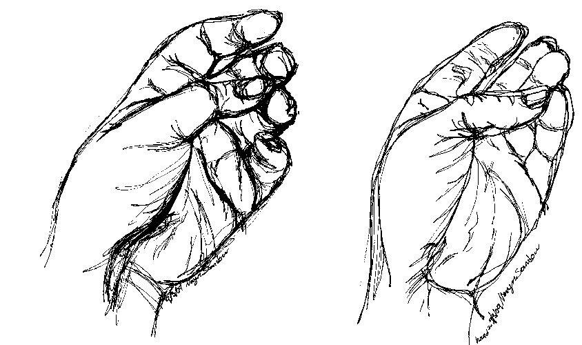 Drawing Lines With Core Graphics : Contour line hands warm up clipart best