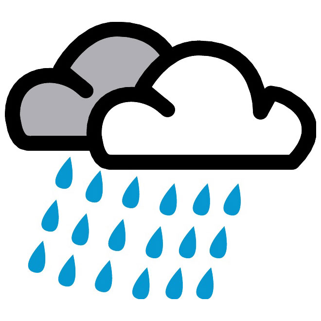 CLOUDY WEATHER SYMBOL VECTOR - Download at Vectorportal