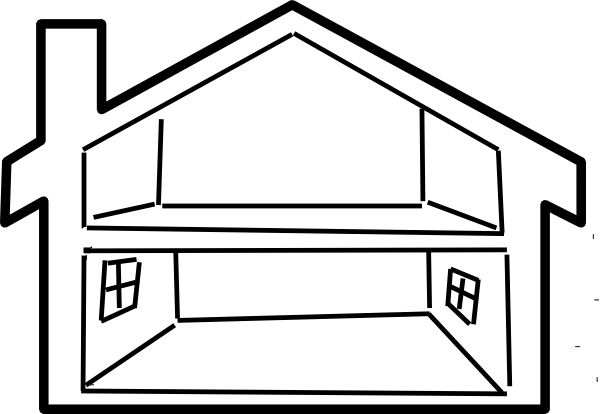 Inside House Outline Clip Art Vector Clip Art Online Royalty ...