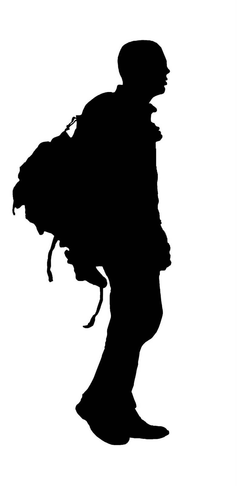 Man Front View Walking Silhouette Images - ClipArt Best