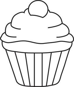 Cupcake Outline Clip Art - ClipArt Best