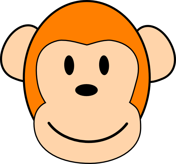 Monkey Face Clip Art Vector Online Royalty Free And Public ...