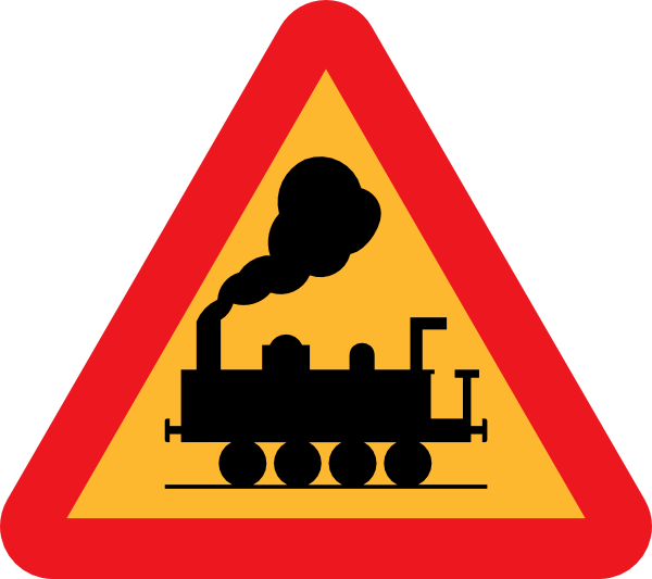 Train Roadsign clip art Free Vector