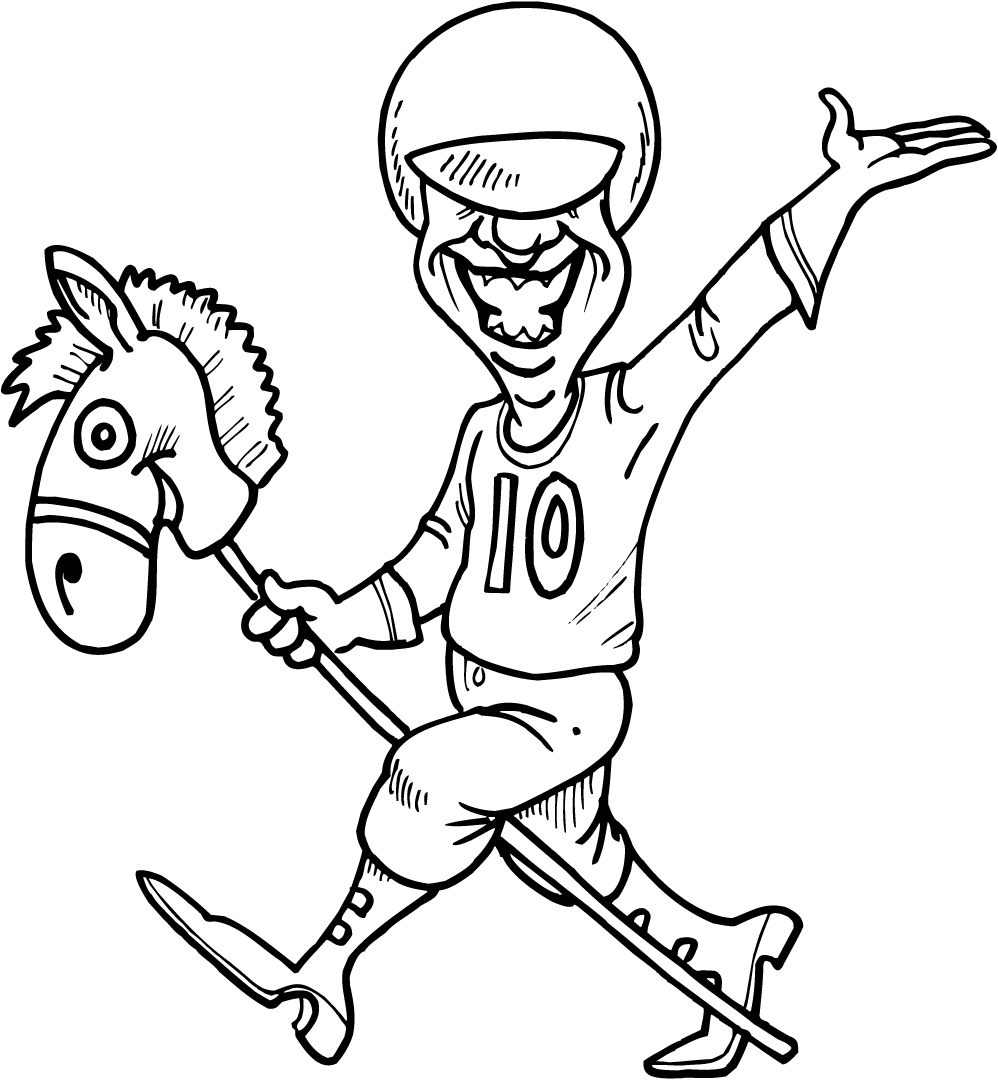 Racinq With Jockey Colouring Pages