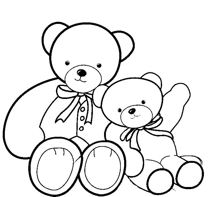 how to draw teddy bear kids
